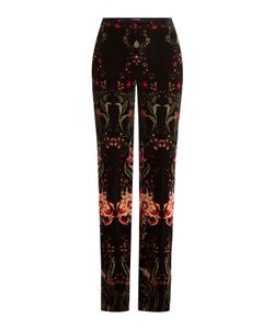 Roberto Cavalli | Printed Velvet Wide Leg Pants Gr. It 40