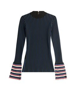 Emilio Pucci | Striped Knit Top With Contrast Cuffs Gr. Xs