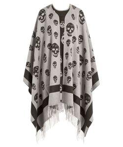 Alexander McQueen | Skull Print Wool Cape Gr. One Size