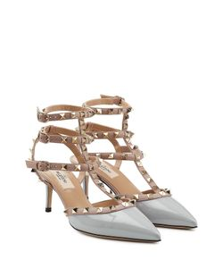 Valentino | Rockstud Patent Leather Kitten Heel Pumps Gr. It 41