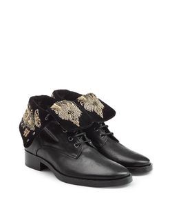 Etro | Leather Ankle Boots With Embroidery Gr. It 38