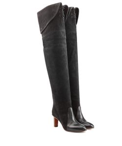 Chloe | Suede And Leather Over The Knee Boots Gr. It 36