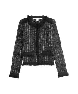 Diane Von Furstenberg | Metallic Knit Jacket With Fringe Trim Gr. M