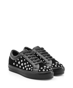 Salvatore Ferragamo | Embellished Suede Sneakers Gr. Us 7