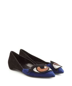 Pierre Hardy | Suede Ballerinas With Stud Embellishment Gr. Fr 36