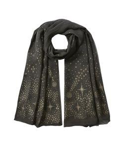 Alexander McQueen | Silk Metallic Moon Stars Scaf Gr. One Size