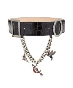 Alexander McQueen | Embossed Leather Belt With Charms Gr. 75