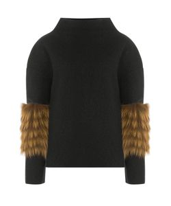 Saks Potts | Wool Pullover With Fox Fur Gr. One Size