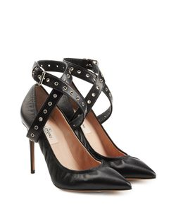 Valentino | Leather Cross-Front Pumps Gr. It 36