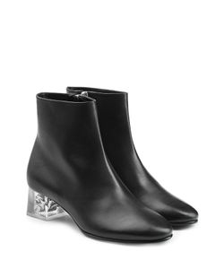 Alexander McQueen | Leather Ankle Boots With Skull In Heel Gr. It 36