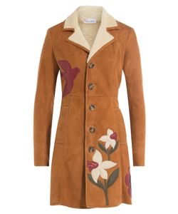 Red Valentino | Shearing Coat With Leather Patchwork Gr. It 38