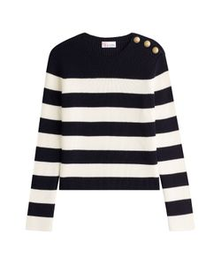 Red Valentino | Wool Pullover With Embossed Buttons Gr. S