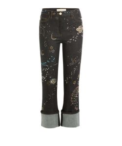 Valentino | Embroidered And Embellished Cropped Jeans Gr. 25