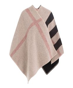 Burberry | Checked Wool Cape With Cashmere Gr. One Size