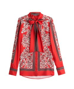 Alexander McQueen | Printed Silk Blouse Gr. It 38
