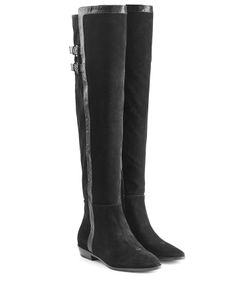 Michael Michael Kors | Suede Over The Knee Boots With Leather Gr. Us 11