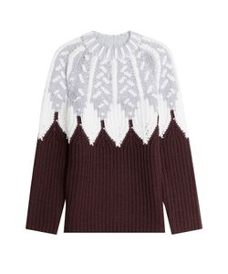 Peter Pilotto | Wool Intarsia Knit Pullover Gr. S