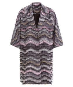 Diane Von Furstenberg | Woven Coat With Fringe Gr. S