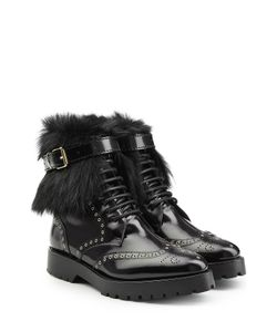 Burberry | Leather Ankle Boots With Shearling Gr. It 385