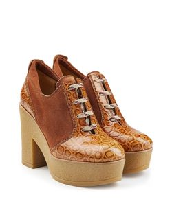 See By Chloe | Leather And Suede Platform Clogs Gr. It 38