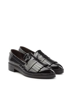 Steffen Schraut | Patent Leather Fringed Loafers Gr. It 36