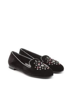 Church'S | Embellished Velvet Slippers Gr. It 36