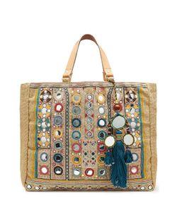 Star Mela   Embellished Jute Bag With Tassels Gr. One Size