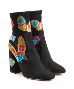 Valentino | Suede Ankle Boots With Butterflies Gr. It 36