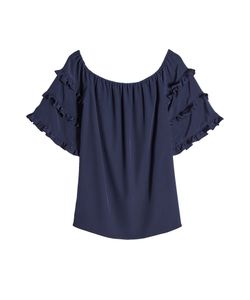 VANESSA SEWARD | Silk Blouse With Ruffled Sleeves Gr. Fr 40
