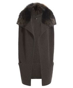 Steffen Schraut | Merino Wool Cape With Fur Trim Gr. De 38