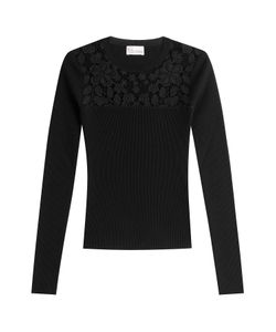 Red Valentino | Pullover With Embroidered Lace Panel Gr. M