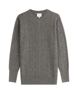 Claudia Schiffer for TSE | Wool Pullover With Cashmere Gr. S