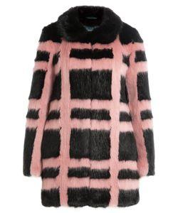 SHRIMPS | Plaid Faux Fur Coat Gr. Us 8