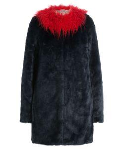 SHRIMPS | Faux Fur Coat With Contrast Collar Gr. Us 8