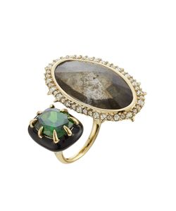 Alexis Bittar   Cocktail Ring With Crystals Gr. 7