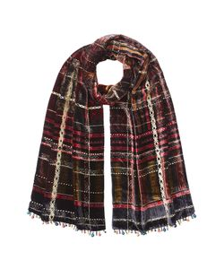 Etro | Embellished Velvet Scarf With Silk Gr. One Size