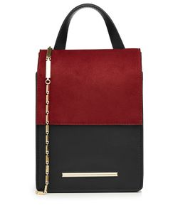 Roland Mouret | Leather And Suede Shoulder Bag Gr. One Size