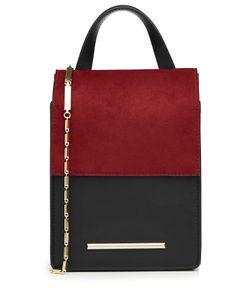 Roland Mouret | Leather And Suede Shoulder Bag Gr. One Size