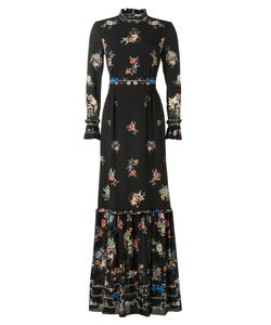 VILSHENKO | Floor-Length Printed Silk Dress Gr. Uk 8