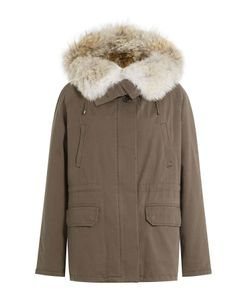 Yves Salomon | Cotton Parka With Fur-Trimmed Hood Gr. Fr 34