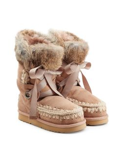 Mou | Lace Front Sheepskin Boots With Fur Cuff Gr. Eu 37