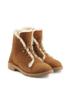 UGG Australia | Suede Lace-Up Boots With Searling Lining Gr. Us 7