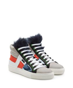 Karl Lagerfeld | Leather High Tops With Faux Fur Gr. It 38