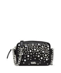 Karl Lagerfeld | Embellished Leather Shoulder Bag Gr. One Size