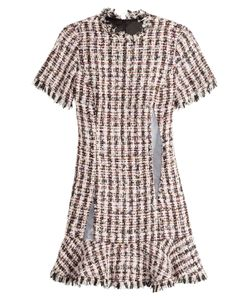 Sandy Liang | Tweed Dress With Mesh Inserts Gr. Fr 36