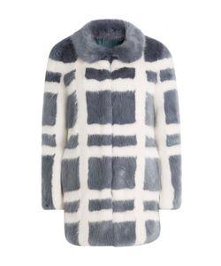 SHRIMPS | Plaid Faux Fur Coat Gr. Us 10
