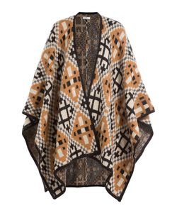 Day Birger Et Mikkelsen | Patterned Knit Poncho Gr. One Size