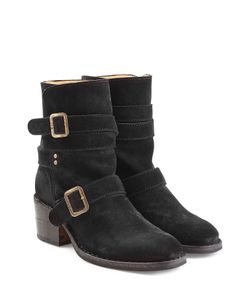 Fiorentini+Baker | Buckled Suede Mid Height Boots Gr. It 36