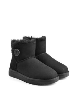 UGG Australia | Shearling Lined Suede Boots With Button Gr. Us 10