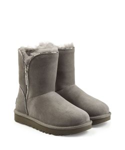 UGG Australia | Classic Suede Mid Boots With Zip Trim Gr. Us 7